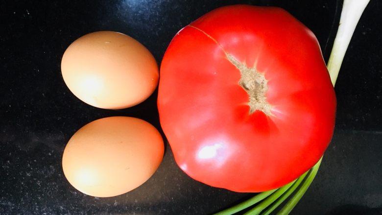 蕃茄炒蛋,准备所需食材