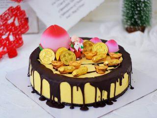 寿星公芒果慕斯蛋糕(十寸),成品图