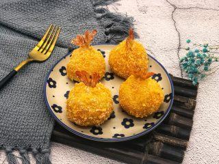 土豆凤尾虾球,烤箱烤的,很健康,而且外酥里嫩特别好吃。