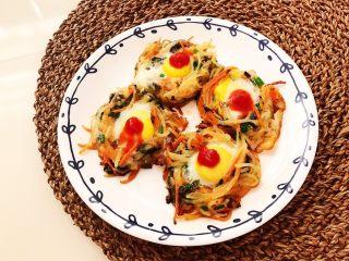 时蔬鹌鹑蛋早餐饼