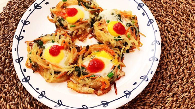 时蔬鹌鹑蛋早餐饼,时蔬鹌鹑蛋早餐饼色彩缤纷,营养丰富~