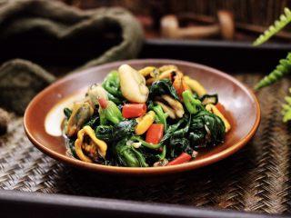 蒜蓉菠菜炒海虹