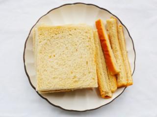好吃到爆的酸奶芒果土司,土司切掉四边。