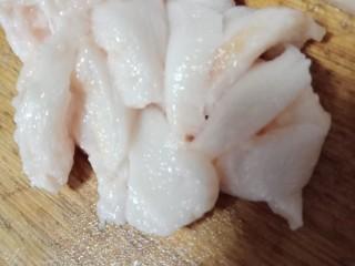 莴笋炒肉,肥肉切片