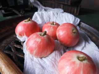苹果豆沙包