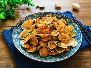 辣炒花蛤,成品图
