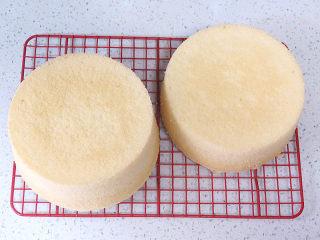 低调的奢华~【巧克力奶油生日蛋糕】,烤好的蛋糕要立即从烤箱取出,快速摔一下,倒扣晾凉;脱模待用