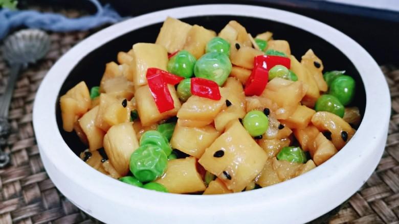 豌豆炒萝卜干,炎热的夏天让你胃口大开~