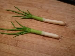 造型馒头 ——大葱卷,在大葱的根部刷上一点可可粉,刚出土的大葱完成了。