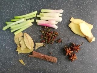 五香毛豆,准备好各种香料,喜欢吃辣的小伙伴们,自己加上辣椒,我不吃辣的,就没加,怕麻烦,直接买个卤料包回来也是可以的