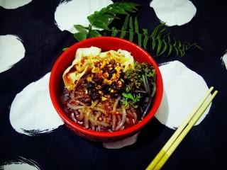 #春食集#      蕨菜云吞香辣粉