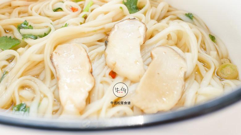 视频|松茸热汤面|牛佤松茸食谱