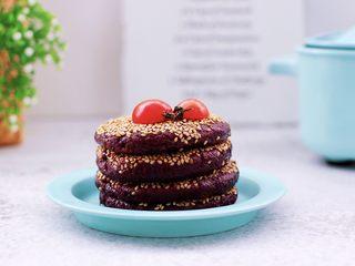 紫薯酸奶果仁芝麻饼,成品一