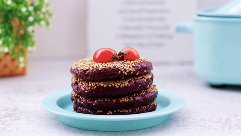紫薯酸奶果仁芝麻饼