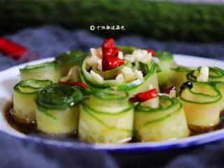 响油黄瓜卷,简单的食材,做出不简单的菜