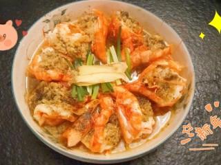 黄油蒜蓉蒸大虾