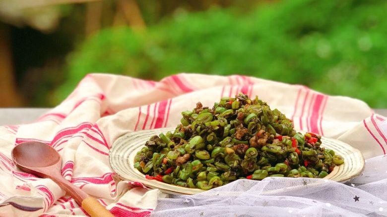 橄榄菜四季豆炒肉末
