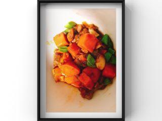 猪肝小米青菜粥,猪肝炒红薯蒜苗就完成啦!