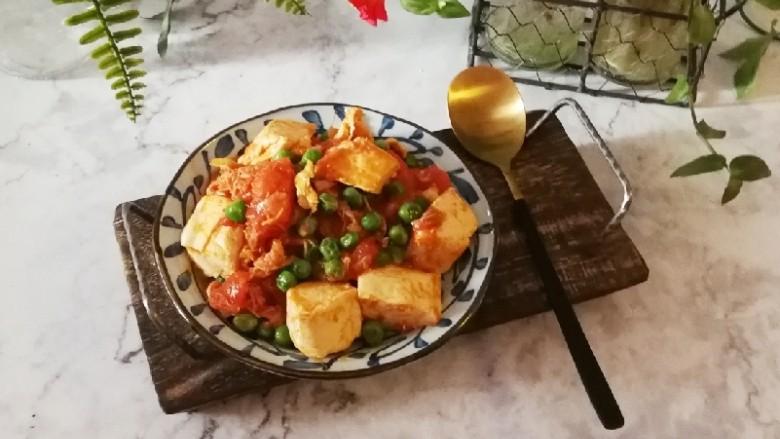 番茄鸡蓉烩豆腐,出锅了