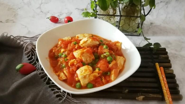 番茄鸡蓉烩豆腐,又一盘