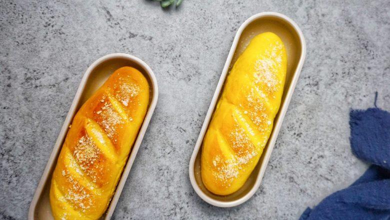 南瓜椰蓉面包条,成品