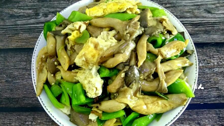 蘑菇尖椒炒鸡蛋