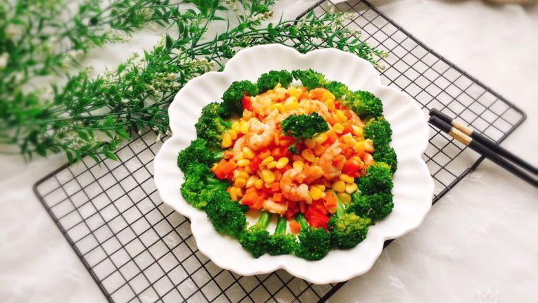 胡萝卜玉米炒虾仁