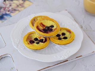 蓝莓蛋挞,成品图