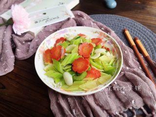清炒西芹百合胡萝卜
