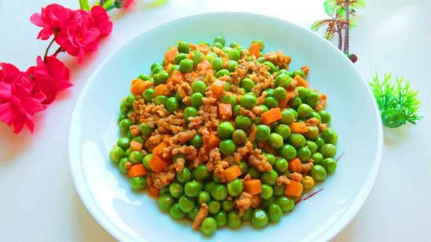豌豆炒肉末  新文美食