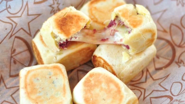 爆浆紫薯仙豆糕,成品。