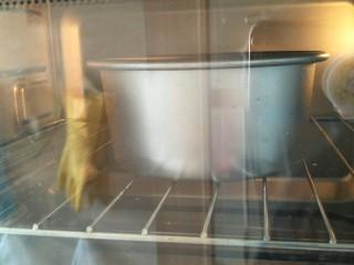 贺寿双层蛋糕(10+6寸),烤箱160°烤35分钟。