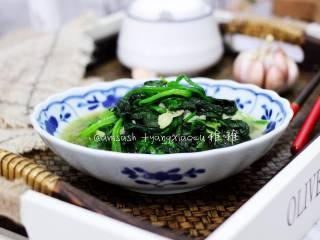 蚝油蒜香菠菜,成品图