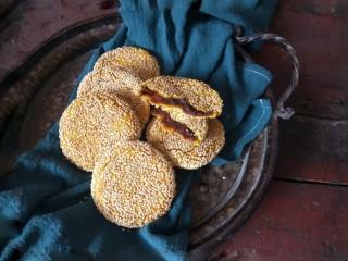 南瓜糯米夹心饼