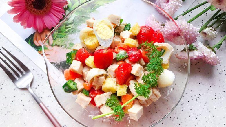 健康美味の鸡胸肉果蔬沙拉