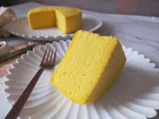 南瓜蒸蛋糕,成品图