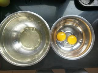 小熊纸杯蛋糕,蛋清。蛋黄分离
