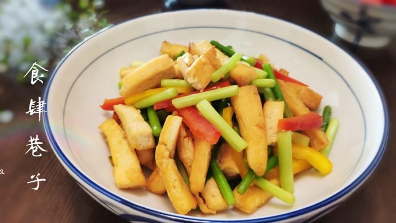 蒜薹炒豆腐