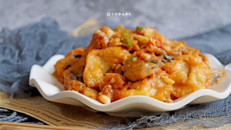 糖醋茄子,其鲜香适口,配米饭吃极其适合。
