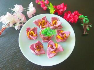 紫薯蜜豆蛋黄花卷