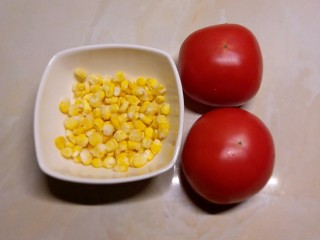 玉米粒番茄盅,番茄  玉米粒