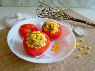 玉米粒番茄盅,好吃到把碗一起吃掉哈