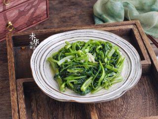 腐乳炒空心菜,成品图。