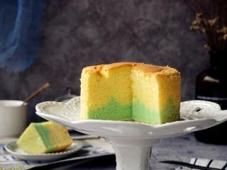 波浪纹双色戚风蛋糕,不论侧面,还是切面都非常好看哦