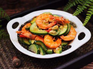 西葫芦炒海虾