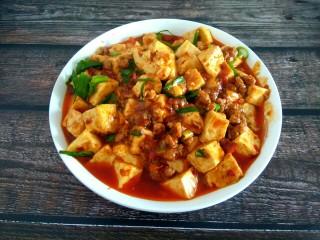 香辣肉沫豆腐,成品图