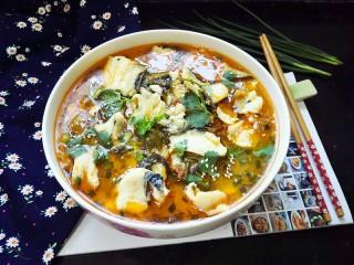 酸菜鱼,拍上成品图,一碗美味下饭的酸菜鱼就完成了。