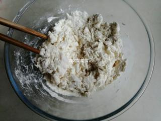 漩涡馒头卷,用筷子拌成絮状