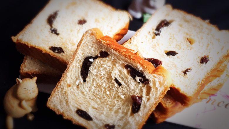 葡萄吐司面包,很有食欲的吐司面包就完成了。