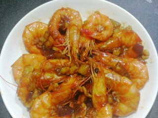 蒜蓉焖大虾